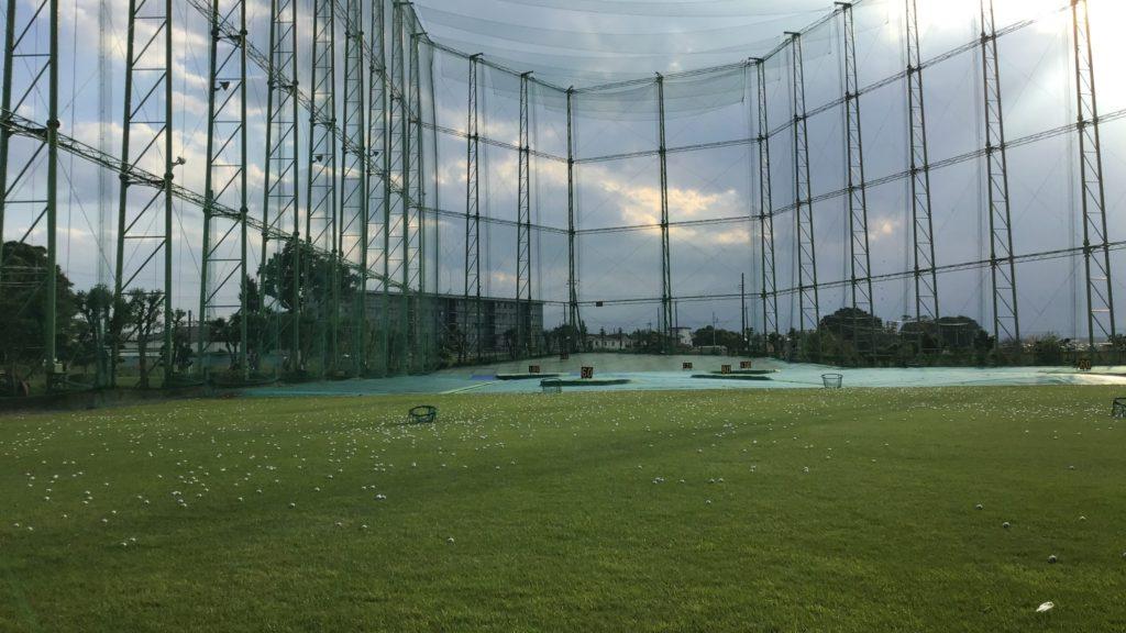 川越市 霞ゴルフプラザの打球面