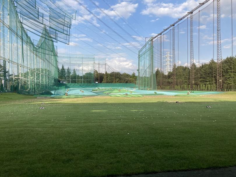 埼玉県所沢市 新富ゴルフプラザ 一階からの風景